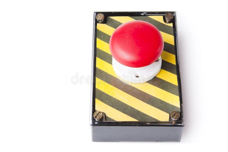 配件箱按钮查出的紧急白色 库存图片