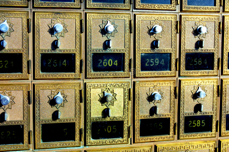 配件箱方式邮件老s葡萄酒 库存照片