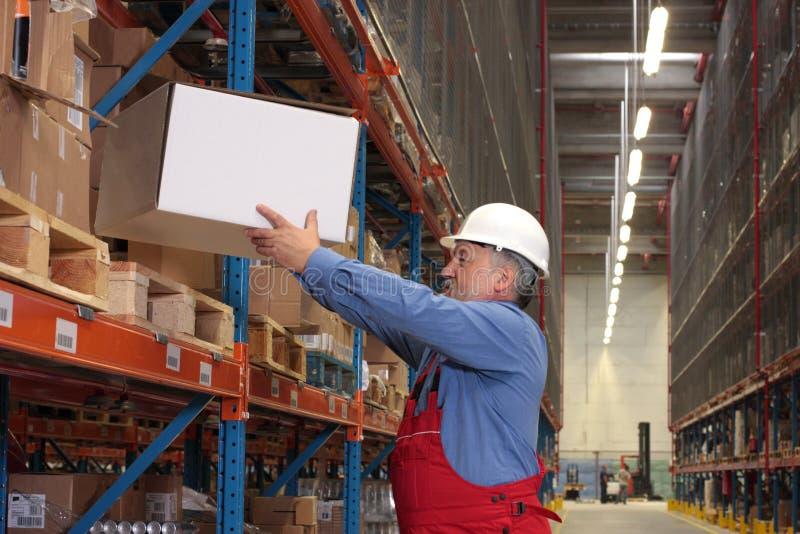 配件箱有经验的工作者 免版税库存图片