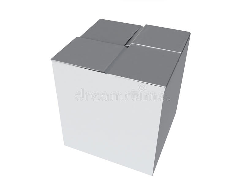 配件箱查出的白色 皇族释放例证