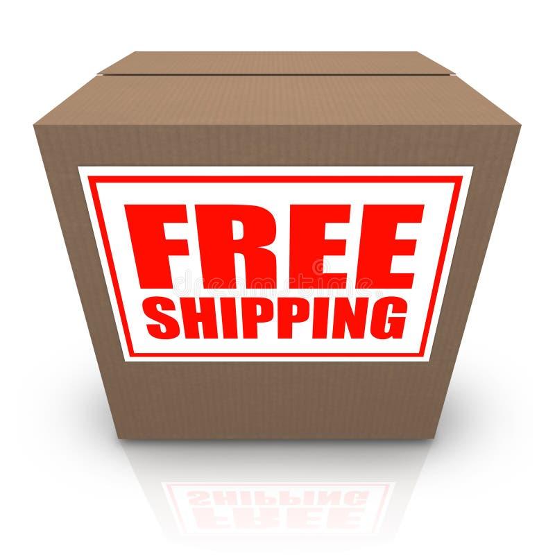 配件箱棕色纸板自由命令发运发运 向量例证
