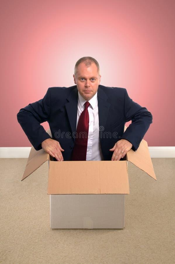 配件箱生意人 库存图片
