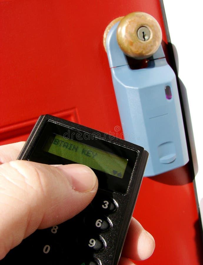 配件箱电子庄园锁定实际遥控 图库摄影