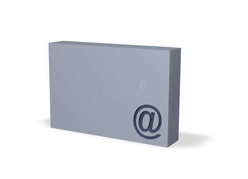 配件箱电子邮件 向量例证