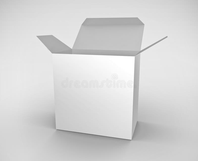 配件箱白色 库存例证