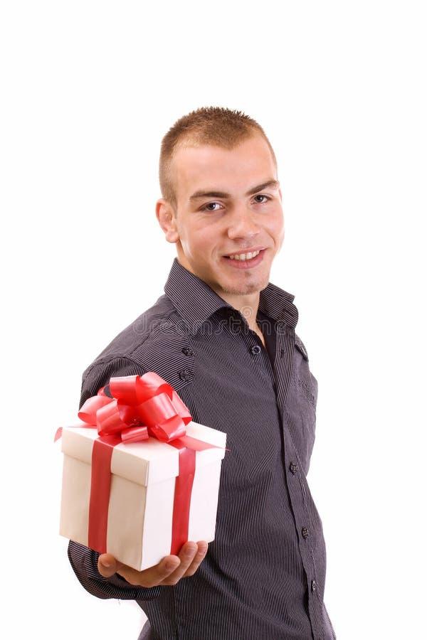 配件箱礼品人被包裹 免版税库存照片