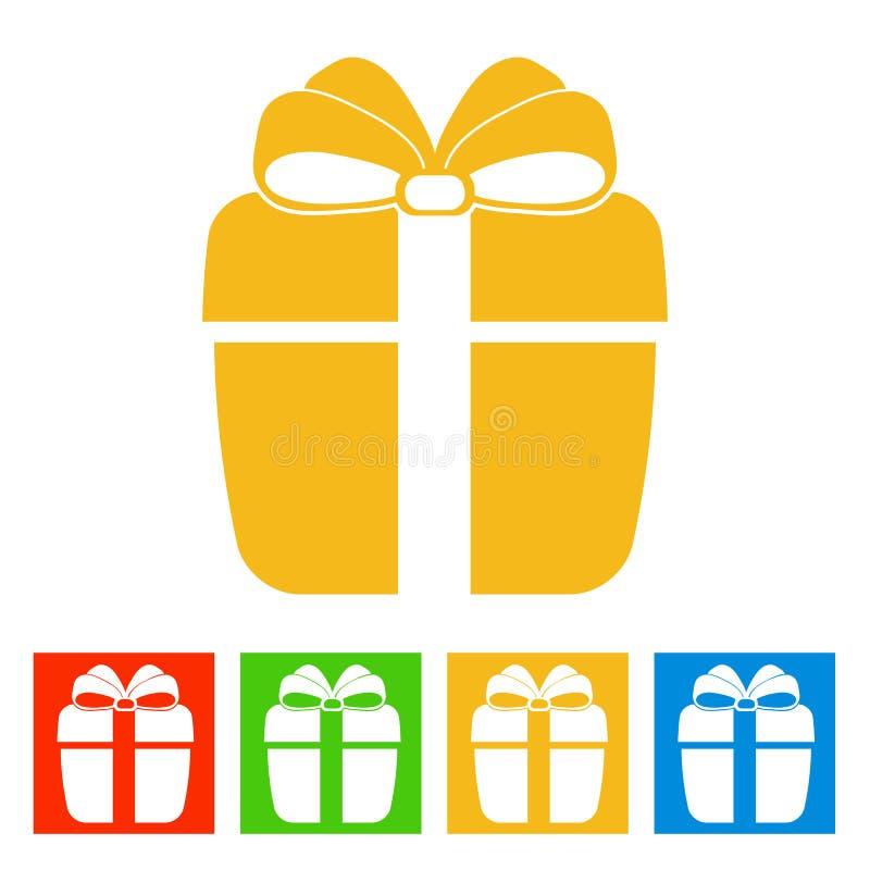 配件箱礼品查出的白色 图标新年度 库存例证