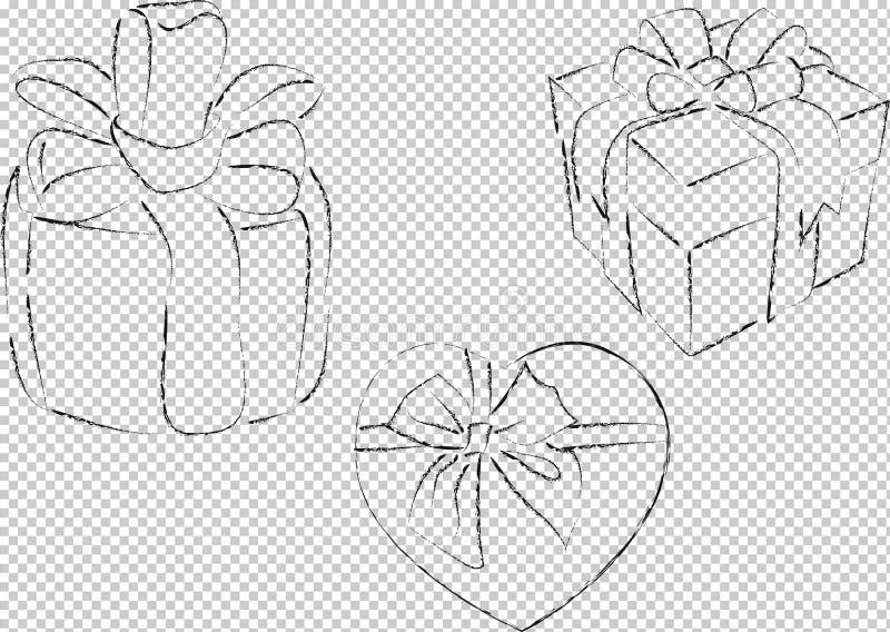 配件箱礼品查出的白色 向量例证