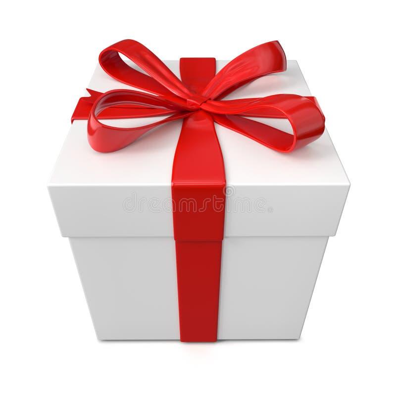 配件箱礼品查出的白色 库存例证