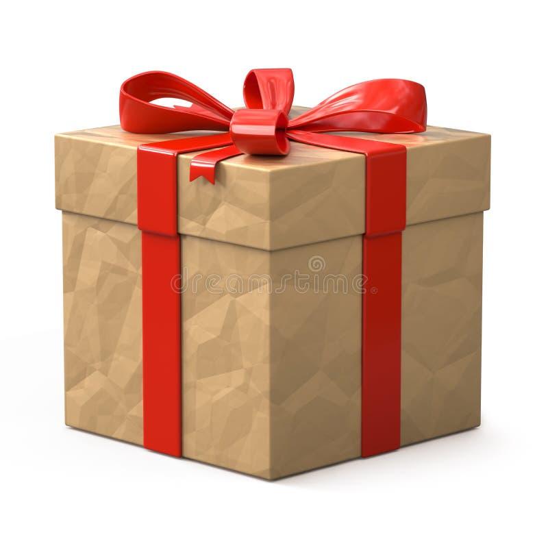 配件箱礼品查出的白色 皇族释放例证