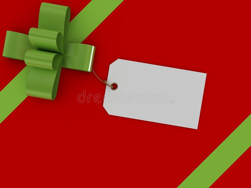 配件箱礼品标签 库存例证