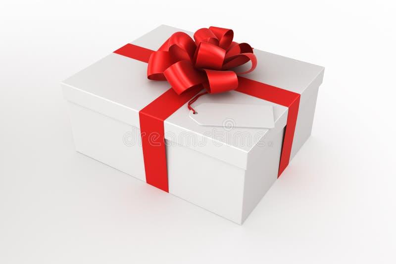 配件箱礼品白色 向量例证