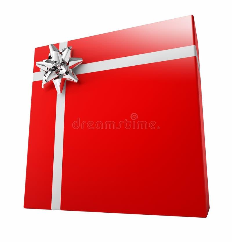 配件箱礼品红色 皇族释放例证