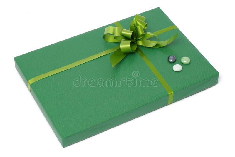 配件箱礼品绿色 库存照片