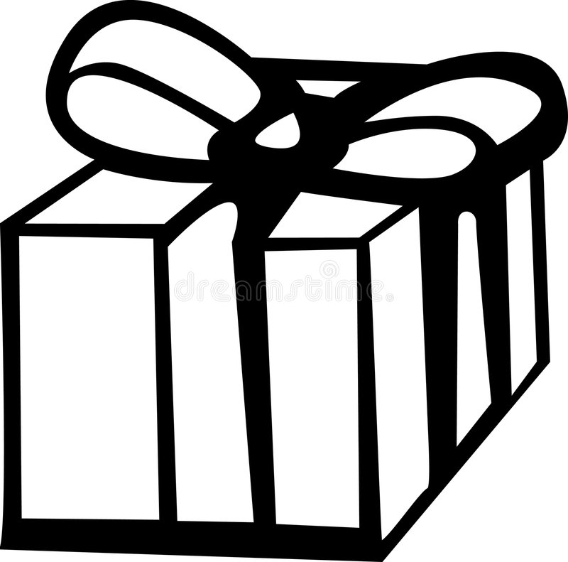配件箱礼品 皇族释放例证