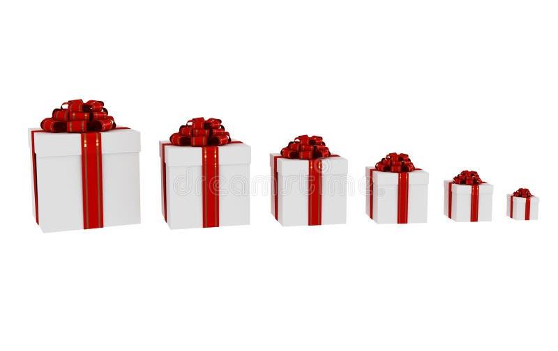 配件箱礼品 向量例证