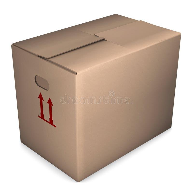配件箱移动 向量例证