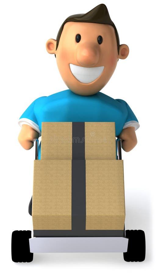 配件箱移动 皇族释放例证