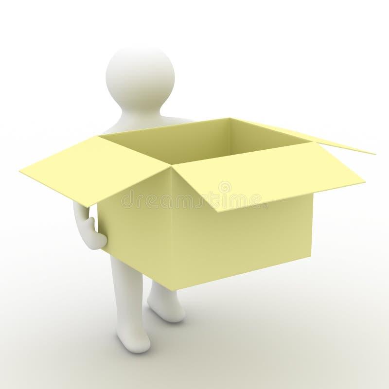 配件箱空的暂挂装入程序 库存例证