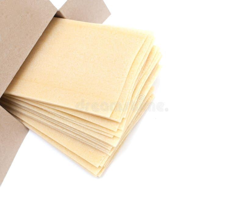 配件箱空的烤宽面条生叶空间 库存图片