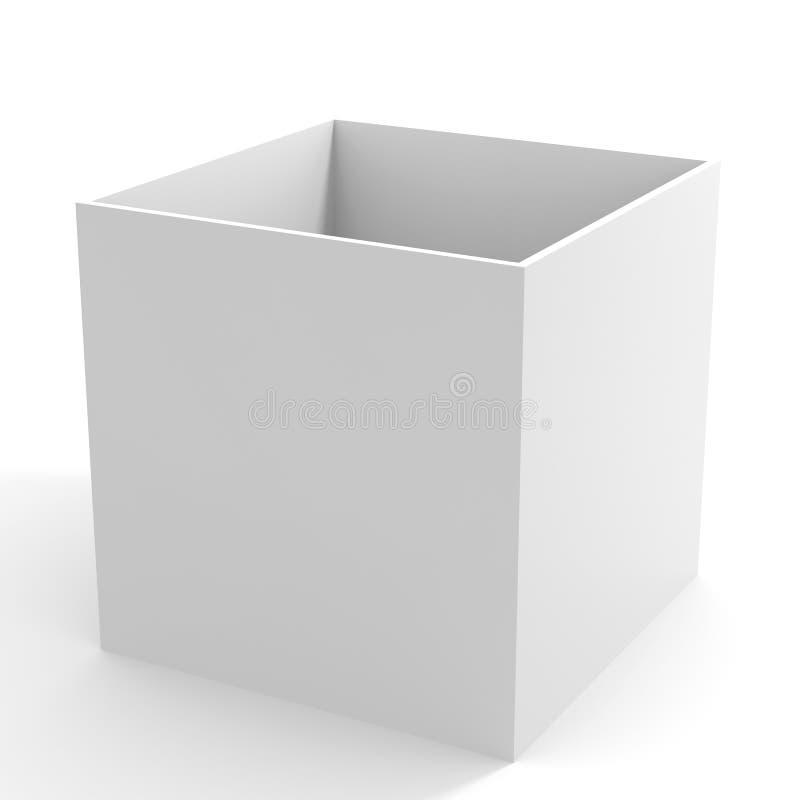 配件箱空的白色 向量例证