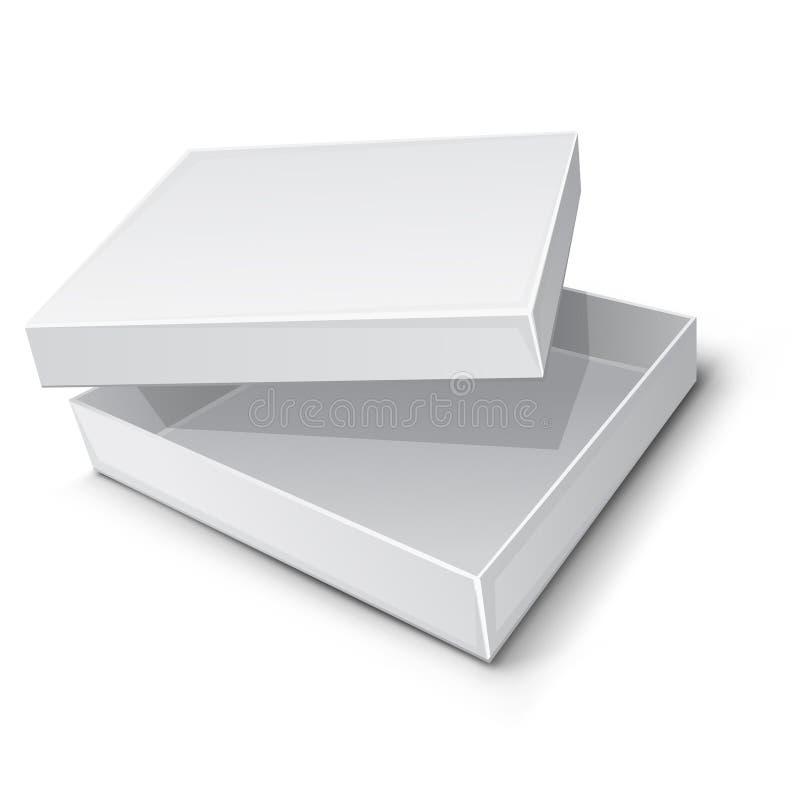 配件箱空的纸张 皇族释放例证