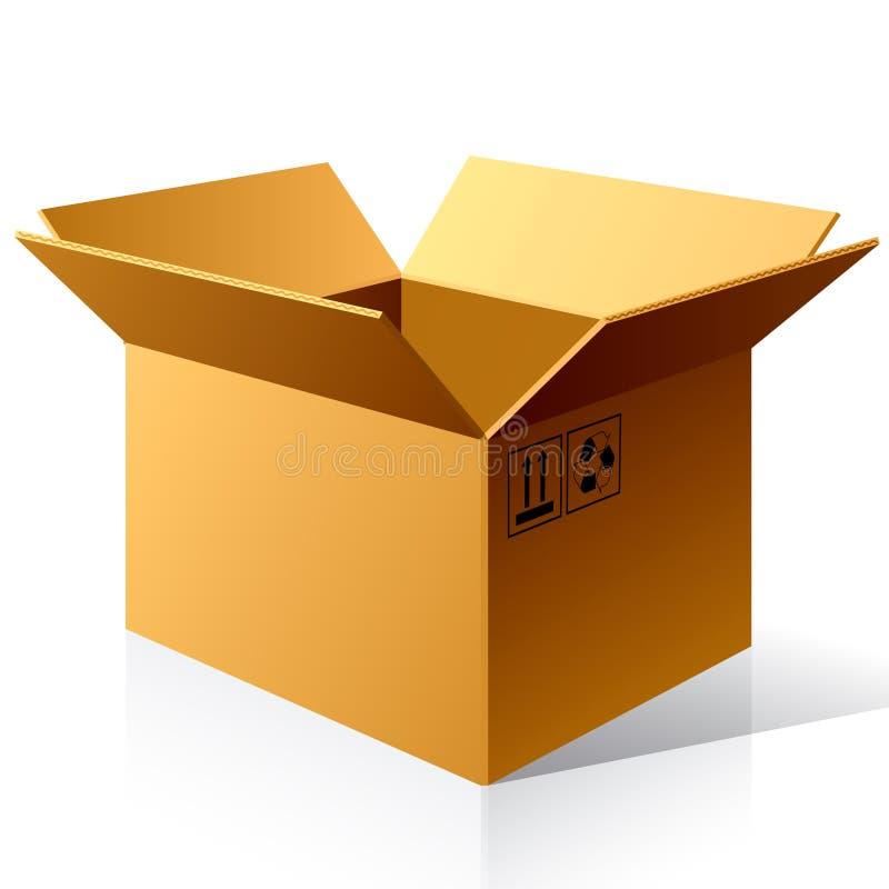 配件箱空的纸张 向量例证