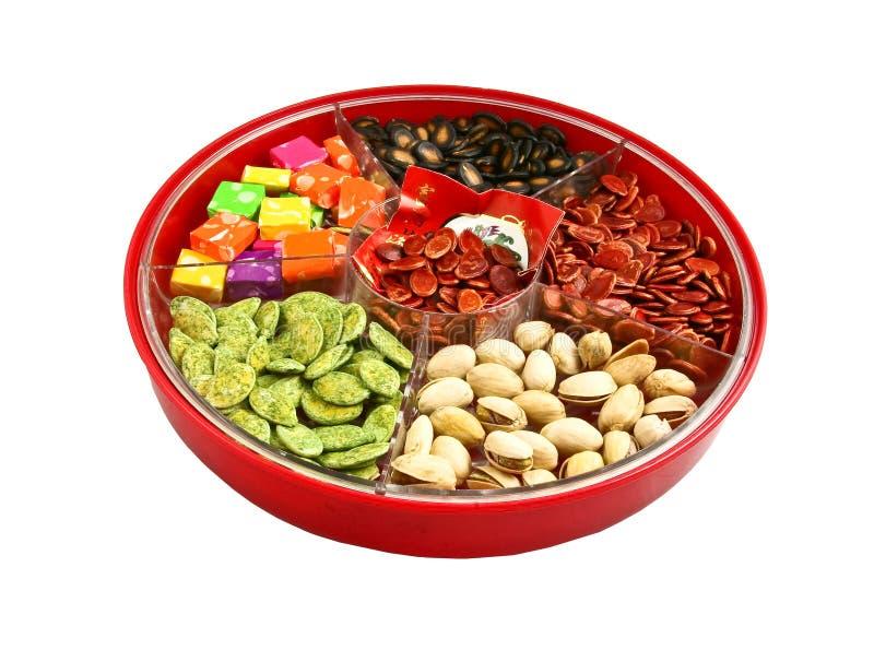 配件箱糖果中国新年度 免版税库存照片
