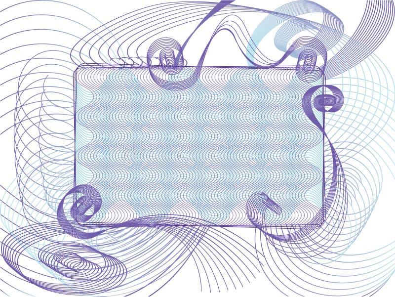 配件箱紫色文本 皇族释放例证