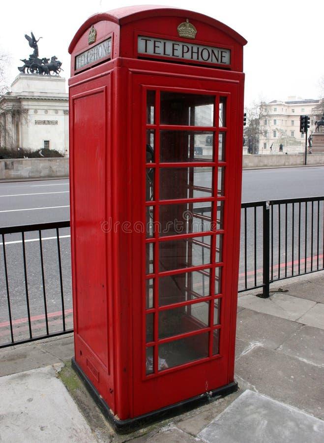 配件箱红色电话 库存图片