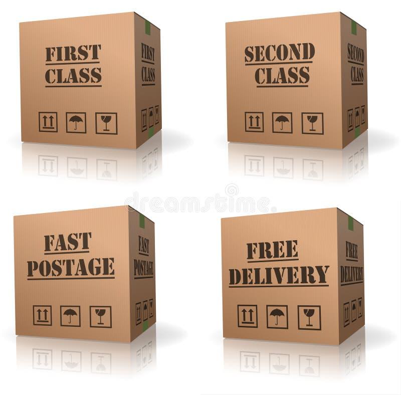 配件箱纸板发运自由顺序发运 皇族释放例证