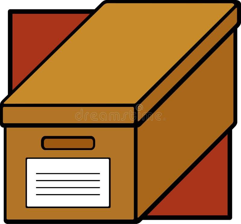 配件箱纸板文件 向量例证