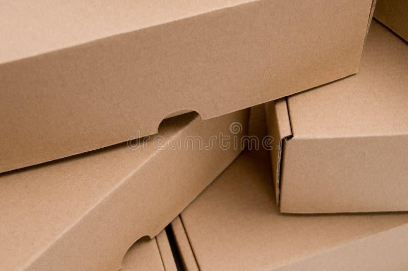 配件箱纸板栈 库存图片