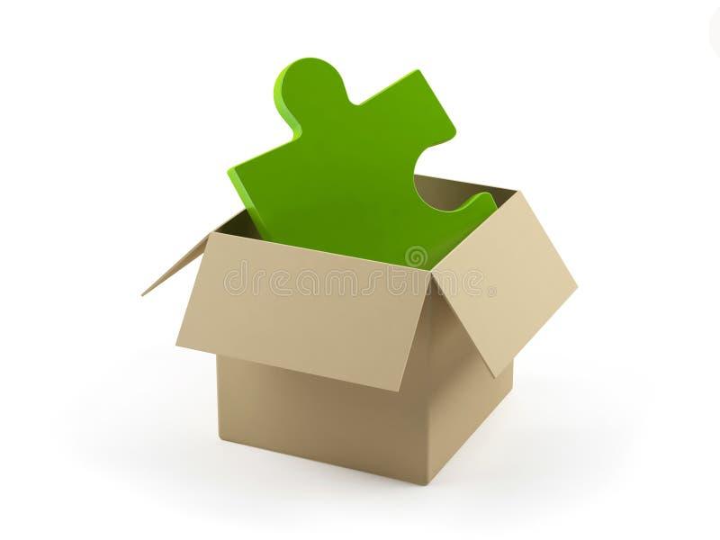 配件箱纸板难题 库存例证