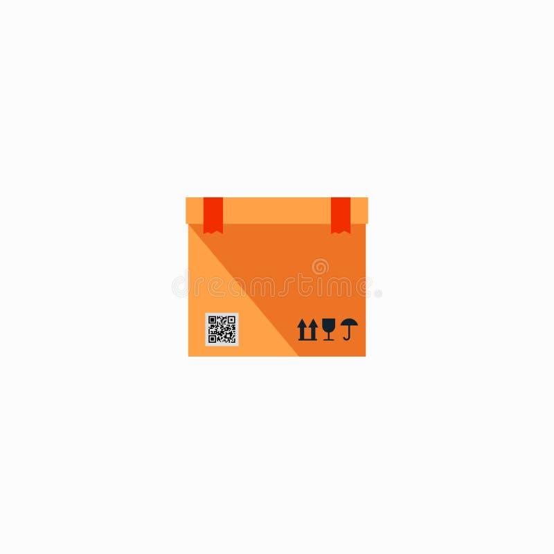 配件箱纸正方形 纸板箱,容器,包装 奶油被装载的饼干 也corel凹道例证向量 10 eps 向量例证