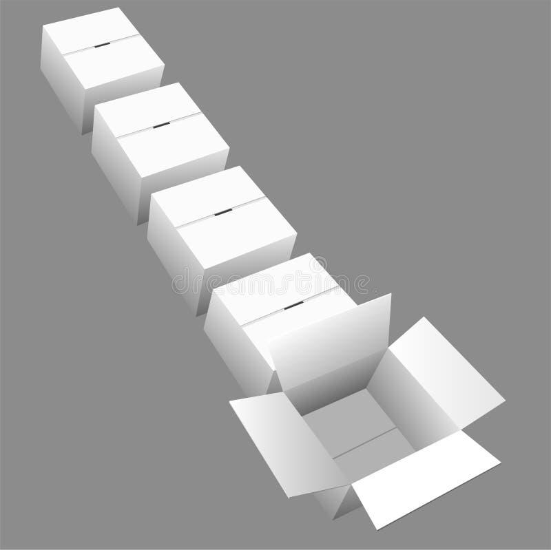 配件箱纸盒排行发运 皇族释放例证