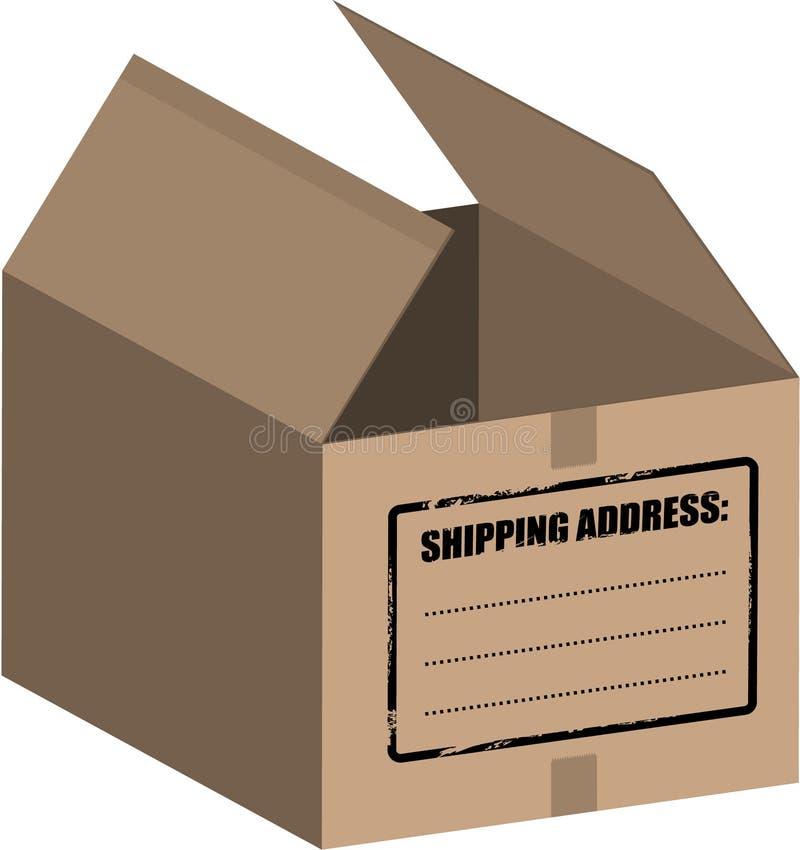 配件箱纸盒空的向量 库存例证