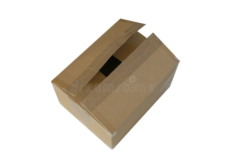 配件箱纸盒 图库摄影