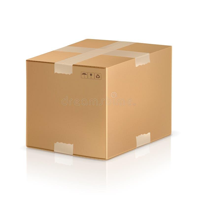 配件箱纸盒 向量例证