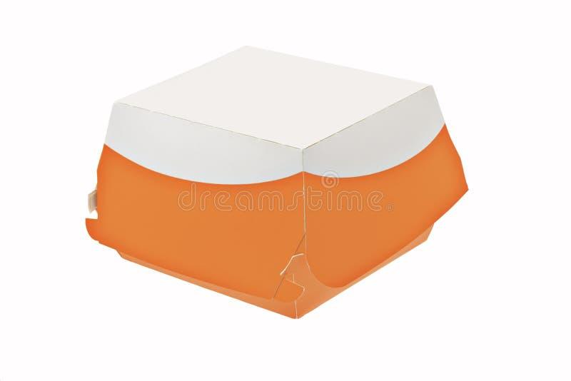 配件箱纸饭菜外卖点 库存图片
