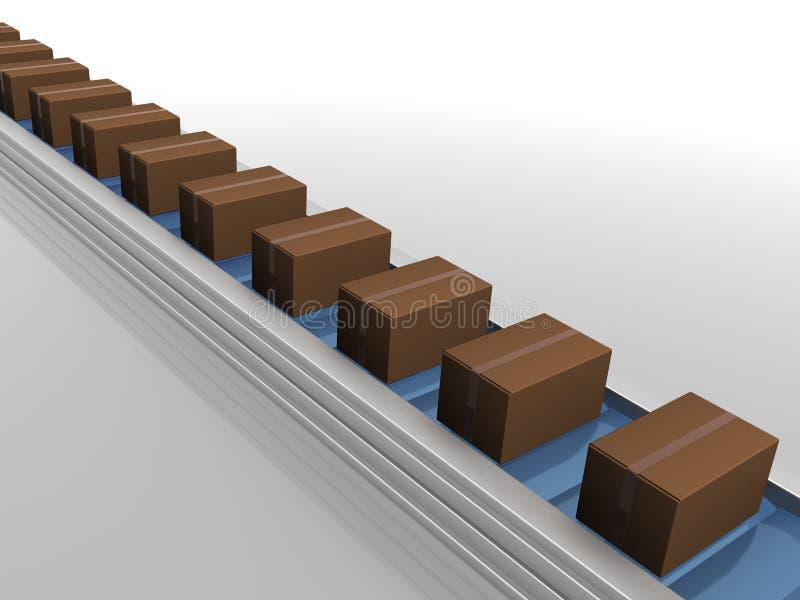 配件箱线路生产 向量例证