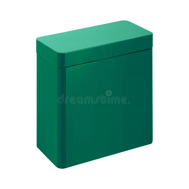 配件箱绿色金属 免版税库存照片