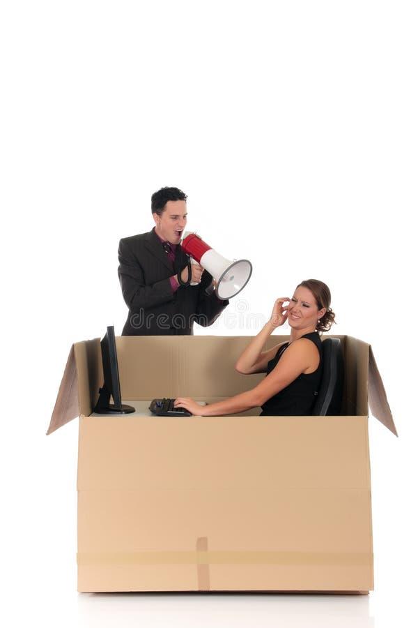 配件箱聊天夫妇争吵 库存图片