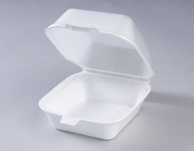配件箱膳食聚苯乙烯泡沫塑料 免版税库存照片