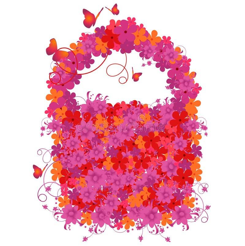 配件箱花卉礼品向量 向量例证