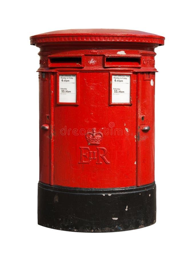配件箱英国过帐红色 库存照片
