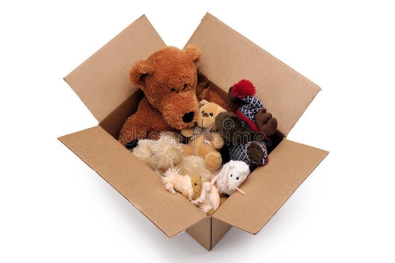 配件箱蓬松玩具 免版税库存照片