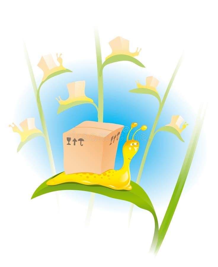 配件箱蜗牛 向量例证