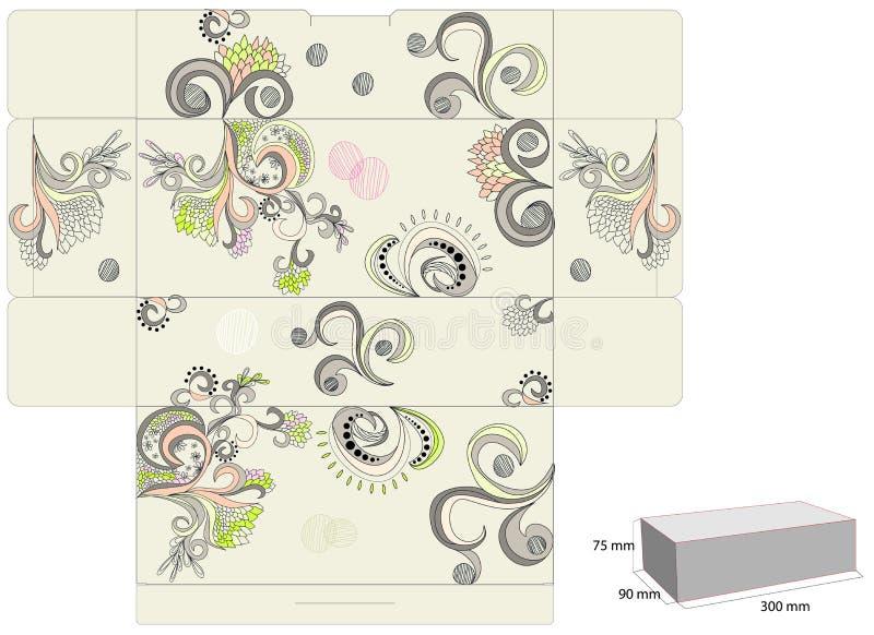 配件箱装饰模板 向量例证
