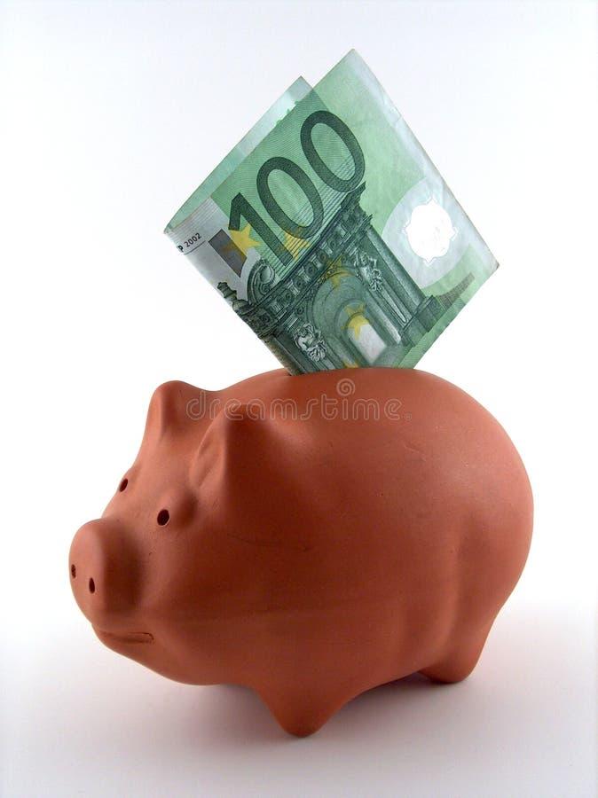 配件箱货币猪 免版税库存照片